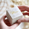 Lisa Angel Meaningful Personalised Natural Velvet Necklace Box