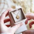 Lisa Angel Square Personalised Natural Velvet Necklace Box