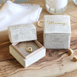 Lisa Angel Special Personalised Natural Velvet Necklace Box