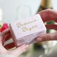 Lisa Angel Special Personalised Pink Velvet Bracelet Box