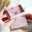 Lisa Angel Thoughtful Personalised Pink Velvet Bracelet Box