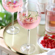Lisa Angel Ladies' Personalised Iridescent Gin Glass