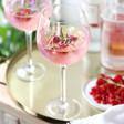 Lisa Angel Large Personalised Iridescent Gin Glass