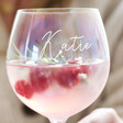 Lisa Angel Engraved Personalised Iridescent Gin Glass