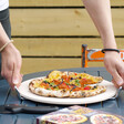 Lisa Angel Ceramic Pizza Stone and Cutter Set