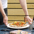 Lisa Angel Pizza Stone and Cutter Set