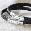 Lisa Angel Men's Engraved Woven Bracelet with Magnetic Clasp