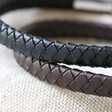 Lisa Angel Men's Engraved Woven Bracelet with Magnetic Clasp Leather Colours