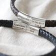 Men's Black Personalised Anniversary Woven Bracelet From Lisa Angel
