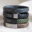Lisa Angel Men's Personalised Constellation Woven Leather Bracelet