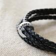 Lisa Angel Men's Stylish Personalised Double Cord Wrap Bracelet