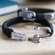 Men's Personalised Family Kiss Woven Cord Bracelet