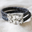 Lisa Angel Men's Personalised Tight Braid Leather Bracelets