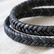Men's Personalised Tight Braid Leather Bracelet