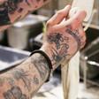 Lisa Angel Men's Engraved 'Trigger Happy' Leather Bracelet on Model