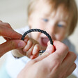 Lisa Angel Men's Personalised Rustic Black Bracelet