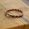 Slim Rainbow Braided Leather Bracelet