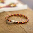 Men's Slim Rainbow Braided Leather Bracelet