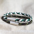 Lisa Angel Men's Slim Braided Leather Bracelets