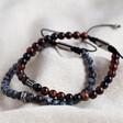 Lisa Angel Men's Semi-Precious Men's Semi-Precious Stone Adjustable Bracelet