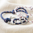 Lisa Angel Personalised Stainless Steel Clasp and Nautical Cord Bracelets