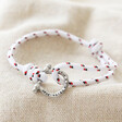 Lisa Angel White Personalised Stainless Steel Clasp and Nautical Cord Bracelet