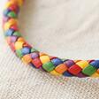Lisa Angel Pride Slim Rainbow Braided Leather Bracelet