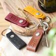 Lisa Angel Personalised Debossed Leather Strap Keyring