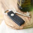 Lisa Angel Black Personalised Debossed Leather Strap Keyring