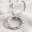 Lisa Angel Men's Personalised Stainless Steel Hoop Necklace
