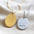 Lisa Angel Men's Personalised Stainless Steel Oval Pendant Necklace