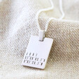 Men's Personalised Sterling Silver Tag Necklace