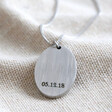 Lisa Angel Men's Engraved Personalised Stainless Steel Oval Pendant Necklace