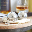Set of Two Stainless Steel Whiskey Balls