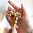 Lisa Angel Personalised Vintage Style Key Keyring