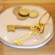 Lisa Angel Gold Engraved Personalised Vintage Style Key Keyring