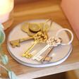 Lisa Angel Ladies' Engraved Personalised Vintage Style Key Keyrings