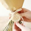 Lisa Angel Engraved Personalised Token Dried Flower Bouquet