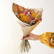 Lisa Angel Rainbow Brights Dried Flower Bouquet with Model