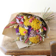 Lisa Angel Colourful Rainbows Brights Dried Flower Bouquet with Amethyst Crystal