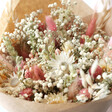 Lisa Angel Real Vintage Pink Dried Flower Bouquet with Pink Crystal