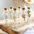 Lisa Angel Small Personalised Dried Flower Glass Bottle