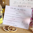 Lisa Angel Personalised Gin & Jam Cocktail Kit Instructions