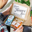 Lisa Angel Father's Day letterbox hamper with examples of chocolate and alcohol