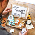 Lisa Angel Father's Day letterbox hamper with examples of what can be included
