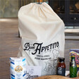 Lisa Angel Personalised Large 'Buon Appetito' Pizza Kit Bag For Hamper