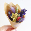Lisa Angel Colourful Rainbow Brights Dried Flower Posy Letterbox Gift with Amethyst Crystal