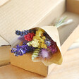 Lisa angel Real Rainbow Brights Dried Flower Posy Letterbox Gift with Amethyst Crystal