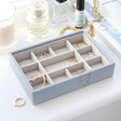 Lisa Angel Stackers Mini 11 Section Jewellery Tray in Blue