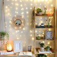 Plug In Warm White LED Cascading String Lights in Office